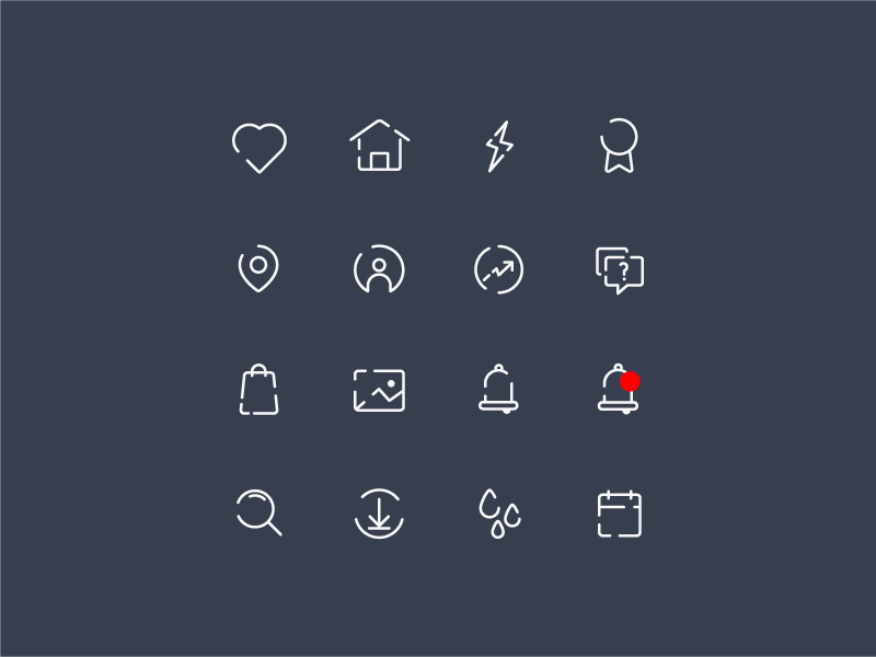 Icon set - Freebie free freebie app ui illustrator ae icons
