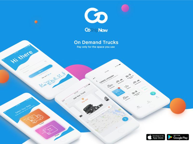 GoshipNow ux design ui adobe creative illustration adobexd product service ios android application app