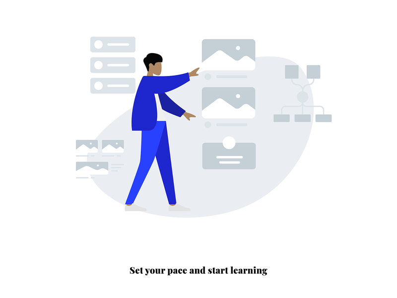 Set Pace on boarding design ui vector ai adobe creative illustration