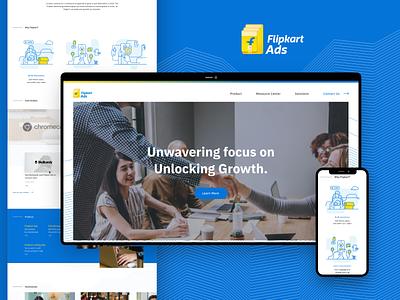 Flipkart Ads Business Landing page mobile webpage web graphic ui adobexd ads business business app flipkart