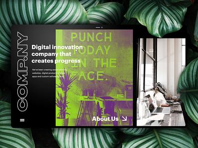 Comp.Ny adobe ux ui webinterface adobexd mockup landing page portfolio product design webdesign web website gif creative illustration