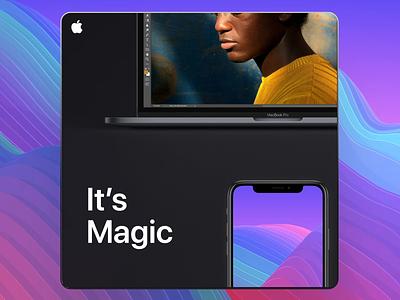 It's Magic magic product design design gif macbookpro apple design iphone macbook notch apple