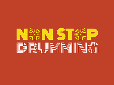 Non Stop Drumming logo visualidentity graphicdesign design branding and identity branding drumming music musicfestival logodesign logo
