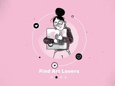 Find Art Lovers marcel art illustration 2d appillustration
