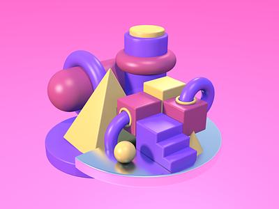 3D ux motion graphics art ui design app 3d