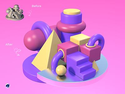 New 3D app branding ux ui art design motion graphics 3d
