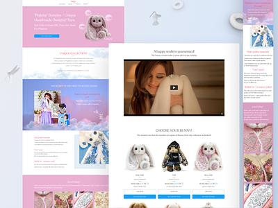 New Online Store – Landing Page typography clean minimal art design app ux 3d ui