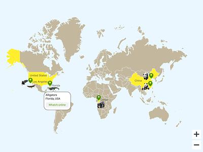 Map illustration app ux ui art design