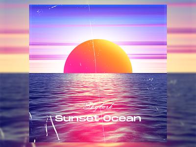 Sunset Ocean poster artwork poster design graphic art cover art graphic design