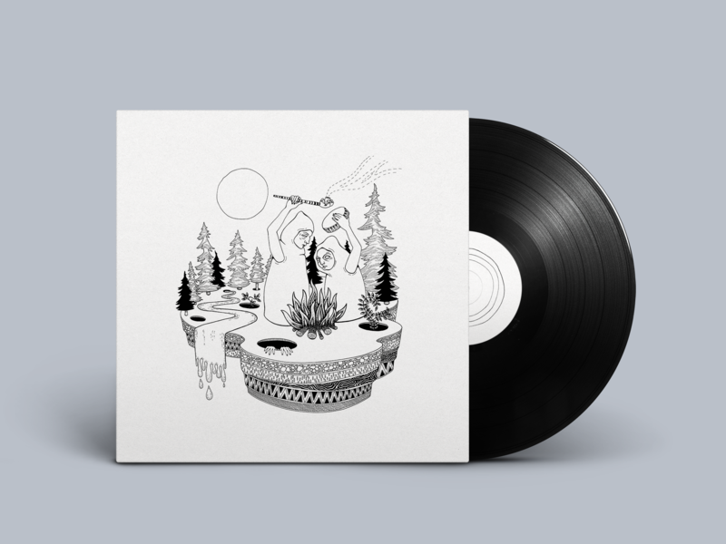 Drumcult Cover Art illustration illustrator drawing album artwork album cover album art album