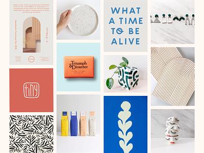 Tinyloud Brand Process inspiration mood moodboard identity brand identity brand design process logo design branding