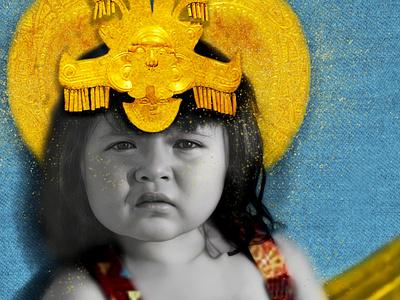 La Reina Calima portrait photo manipulation graphic design