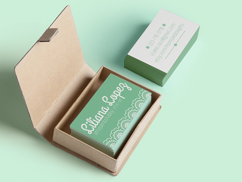 Shabby Chic Business Cards by Linda Ahlskog - Dribbble