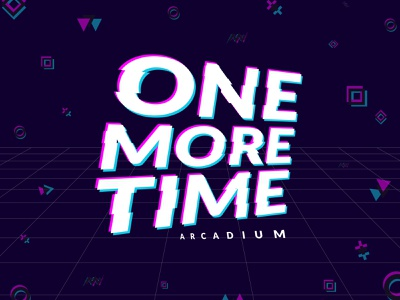 Weekly Warmup -- One More Time Retro Arcade branding logo arcade gamer