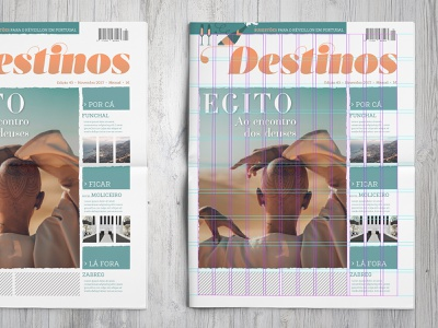 Destinos Newspaper Grid vacations editorial design magazine newspaper adventure travel editorial illustration layout editorial grid
