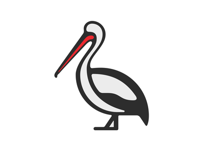 Pelican vector line draw branding icon design illustration graphic art logo logomark