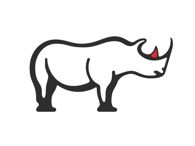 Rhino golden ratio rhino animals logomark icon lines vector branding sticker line illustration graphic art design logo