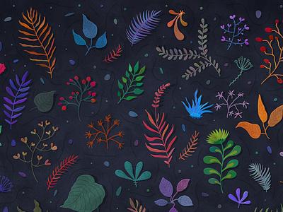 Botanica botanical dark art background wallpaper nature