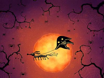 Halloween Pet scary spooky night moon halloween