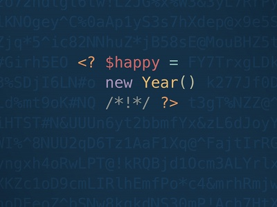 Happy New Year, developers! php christmas new year