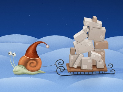 Gift Delivery snail fast ride