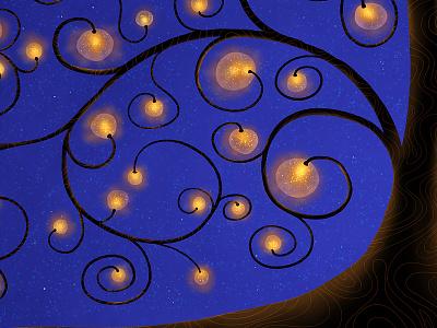 The Tree Of Lights (Gold) tree lights