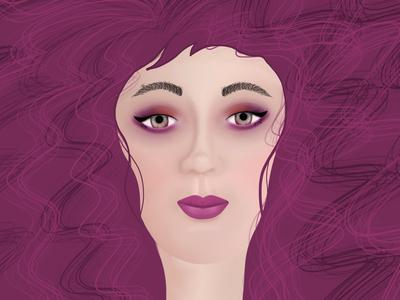 Woman procreate illustration visualdesign