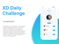 Leaderboard - XD daily challenge