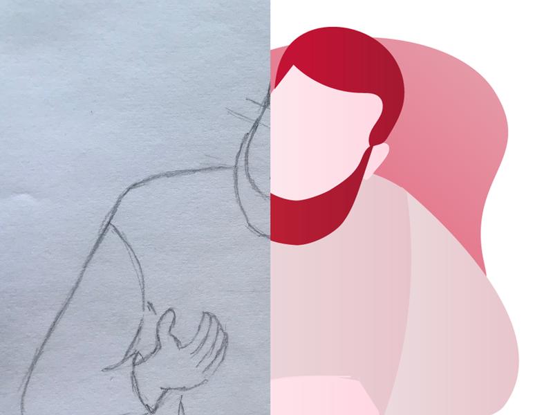 Onboarding illustration (draft) prototyping brand mobileapp appconcept illustration visualdesign ux ui