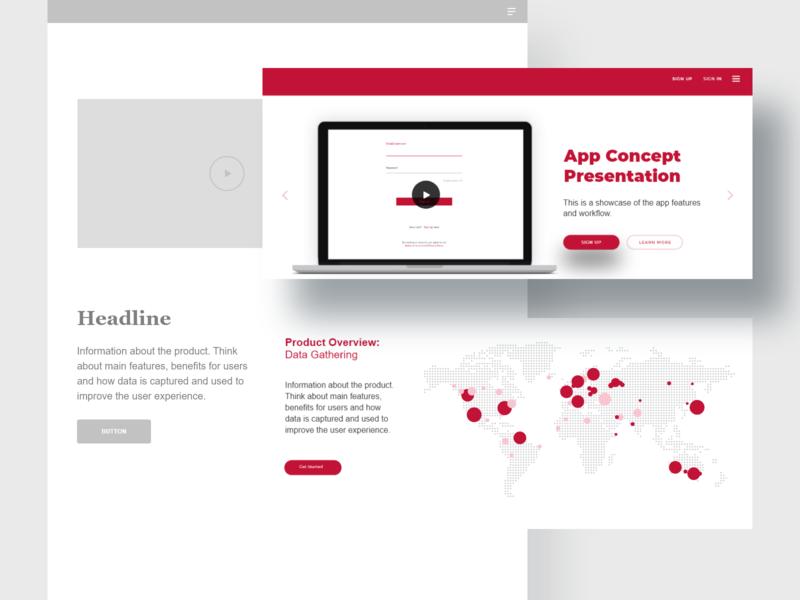 App Concept Presentation adobexd branding ux ui appconcept visualdesign productpresentation productdesign
