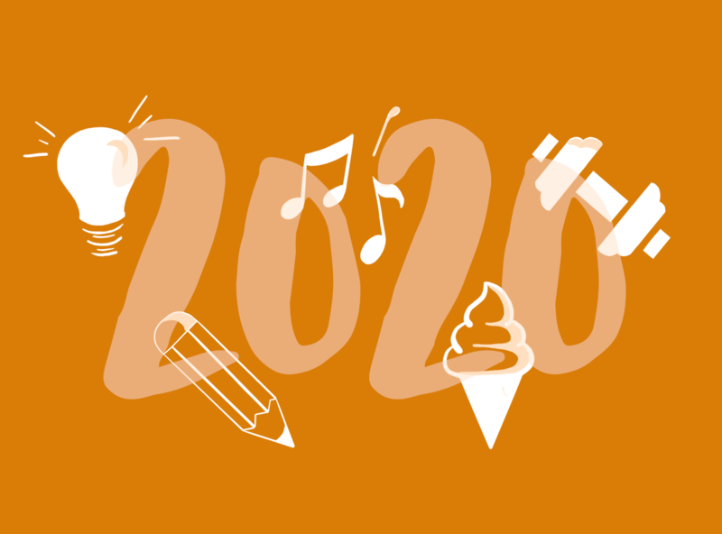 2020 Resolutions illustration visualdesign