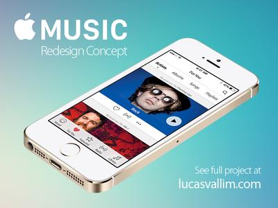 Apple Music Redesign Concept interface design app design web design ux ui ui design redesign concept music apple music apple