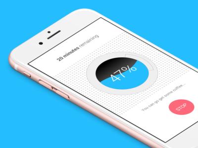 Smart Washing Machine App Concept design progress minimal white concept ios iphone app ux ui