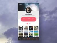 Photography Portfolio App UI Concept