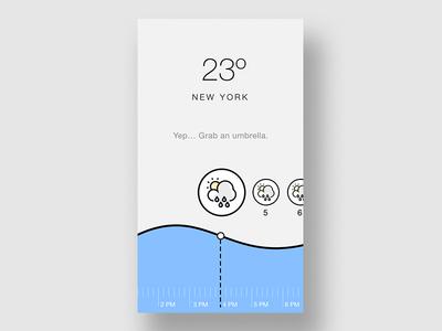Weather App UI Concept ux ui design ui blue weather minimal ios graphic flat design design clean app