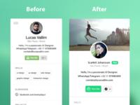 Dribbble User Profile Redesign Concept