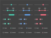 UI Elements - Dark Version