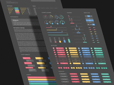 Dark UI Kit In Progress free social media stats flat chart bars dashboard analytics ui kit ui design