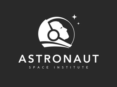 Space Monochromatic Logo Concept illustration dark space monochromatic minimal logo