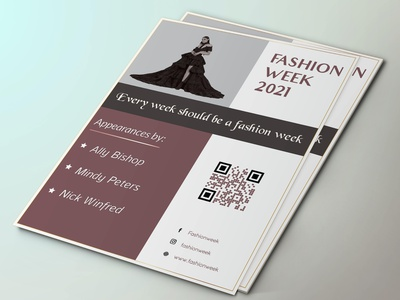 Fashion Flyer gradient sublime model black grey illustration design clean unique elegant minimal simple sophisticated pink flyer fashion fashion flyer