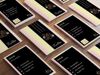 Gradient Business Card design illustration unique clean graphic design minimal simple elegant logo visiting card business card gradient