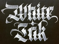 White Fraktur On Black