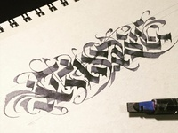 Abstract Blackletter Doodle