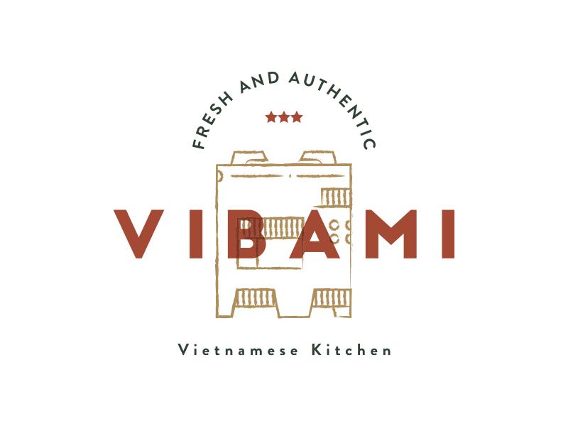 Vibami Logo Concept vietnamese bread kitchen authentic fresh branding homemade finland food traditional cuisine kerosense stove