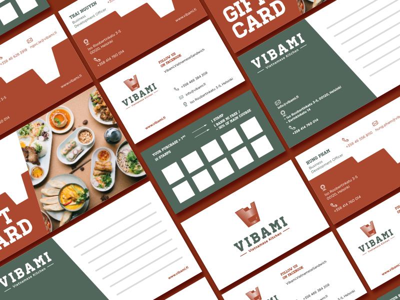Vibami Stationery graphic stationery branding traditional vietnamese finland cuisine restaurant authentic kitchen vietnam woodcut