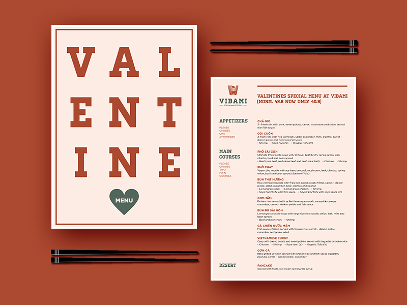 Vibami Valentine Menu By Keab On Dribbble