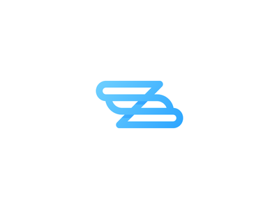 Z single line sky blue blue z logo z letter z monogram letter mark logo