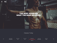 Web design - Gym theme