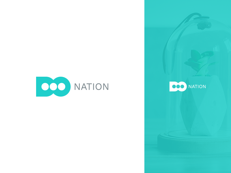 Do-Nation monogram letter mark donation donate clean branding design logo