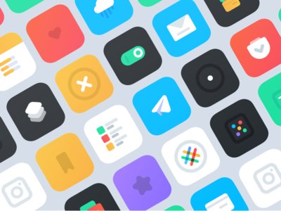 icon pack for iOS 10 health settings apple ui iconography color design logo remake app ios icon